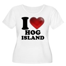 I Heart Hog Island Plus Size T-Shirt