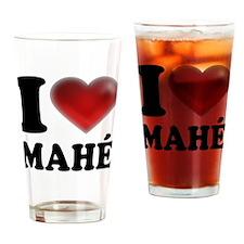 I Heart Mahé Drinking Glass