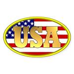 Patriotic USA Oval Sticker