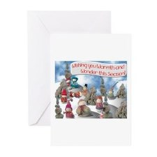 Cute Yarn christmas Greeting Cards (Pk of 20)