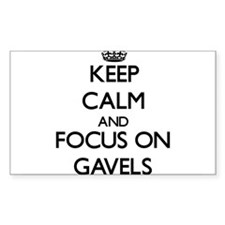 Keep Calm and focus on Gavels Decal