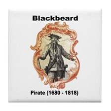 Blackbeard Pirate Tile Coaster