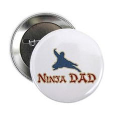 """Vintage Ninja Dad Father's Day 2.25"""" Button (10 pa"""