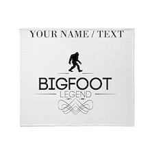 Custom Bigfoot Legend Throw Blanket