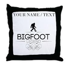 Custom Bigfoot Legend Throw Pillow