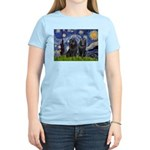 Starry Night & Schipperke Women's Light T-Shirt