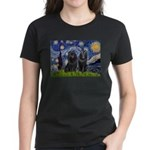 Starry Night & Schipperke Women's Dark T-Shirt