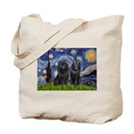 Starry Night & Schipperke Tote Bag