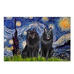 Starry Night & Schipperke Postcards (Package of 8)