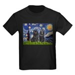Starry Night & Schipperke Kids Dark T-Shirt