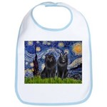 Starry Night & Schipperke Bib