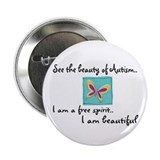 "Cute Developmental disability 2.25"" Button (10 pack)"