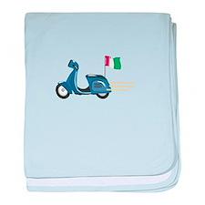 Italian Scooter Vespa Motorcycle baby blanket