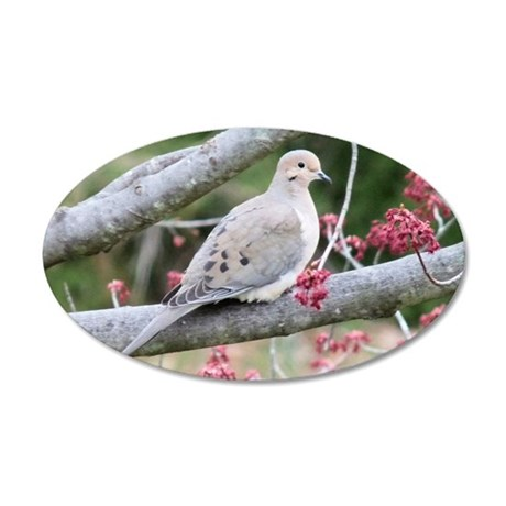 Mourning Dove 35x21 Oval Wall Decal