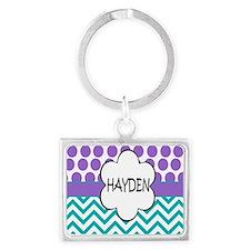Hayden Lavender Turquoise Landscape Keychain