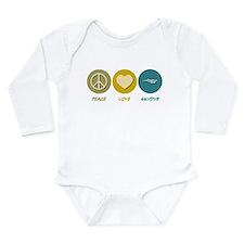 Cute Peace love skydiving Long Sleeve Infant Bodysuit