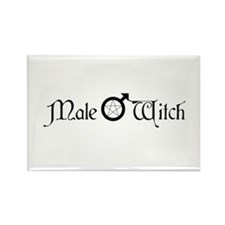 Male Witch Rectangle Magnet