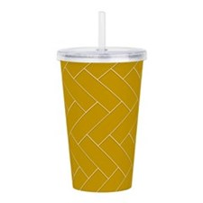Gold Pattern Acrylic Double-wall Tumbler