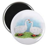 Sebastopol Goose Pair Magnet