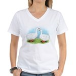 Sebastopol Goose Pair Women's V-Neck T-Shirt