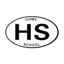 Cute Homeschool Oval Car Magnet