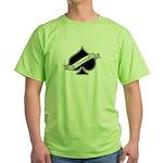 Spade & Neutered (black) Green T-Shirt