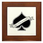 Spade & Neutered (black) Framed Tile