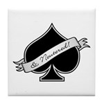 Spade & Neutered (black) Tile Coaster