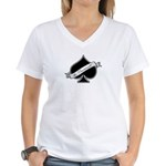 Spade & Neutered (black) Women's V-Neck T-Shirt