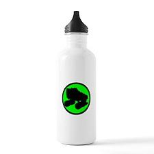 Circle Skate Green Water Bottle