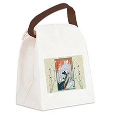 Unique Man and woman in park Canvas Lunch Bag