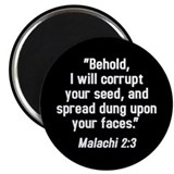Malachi 2:3 Magnet