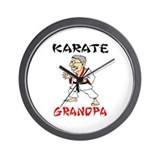 Karate Grandpa Wall Clock