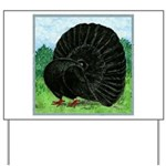 Fantail Black Pigeon Yard Sign