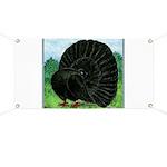 Fantail Black Pigeon Banner
