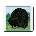 Fantail Black Pigeon Mousepad