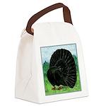 Fantail Black Pigeon Canvas Lunch Bag