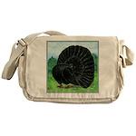 Fantail Black Pigeon Messenger Bag