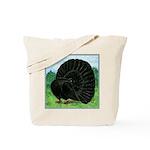 Fantail Black Pigeon Tote Bag