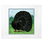 Fantail Black Pigeon King Duvet