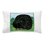 Fantail Black Pigeon Pillow Case