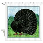 Fantail Black Pigeon Shower Curtain