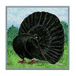 Fantail Black Pigeon Tile Coaster
