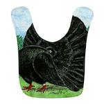 Fantail Black Pigeon Bib