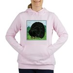 Fantail Black Pigeon Women's Hooded Sweatshirt