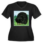 Fantail Black Pigeon Plus Size T-Shirt