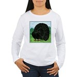 Fantail Black Pigeon Long Sleeve T-Shirt
