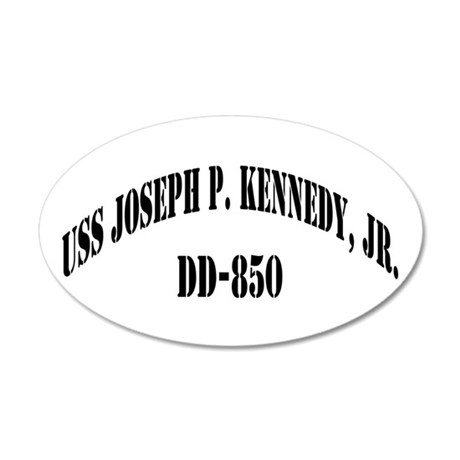 USS JOSEPH P. KENNEDY, JR. 20x12 Oval Wall Decal