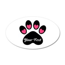 Personalizable Paw Print Wall Decal