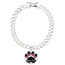 Personalizable Paw Print Pink Bracelet